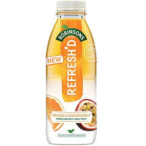 Robinsons Refresh'd Flavoured Water 500ml - case of 24 - Livewell Direct