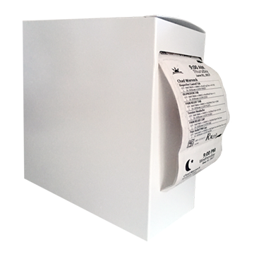 Adherence White Dispenser Boxes, 7x7x2.75