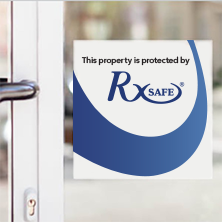 RxSafe 1800 Window Cling