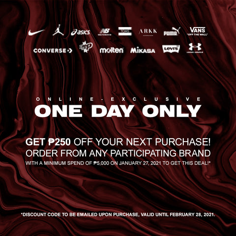 Get PHP250 Off Your Next Order