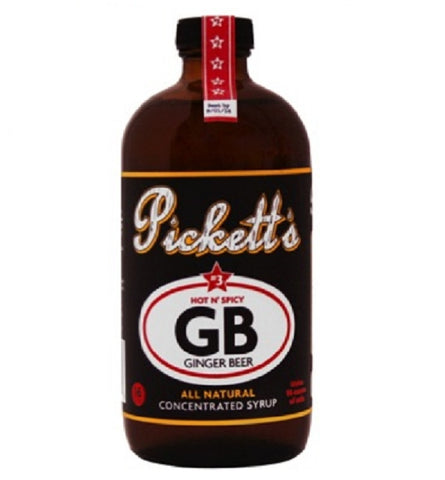 Pickett's #3 HOT N' SPICY Ginger Beer - All Natural - Concentrated Syrup