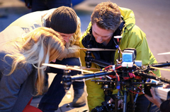 Helivideopros Octocopter on set