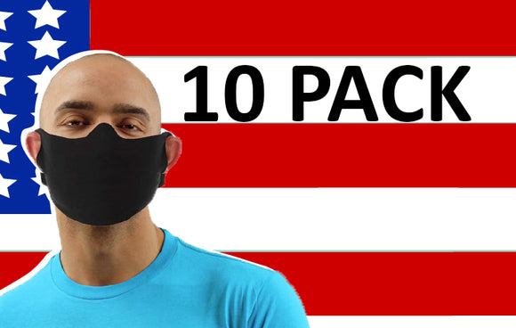 Daily Face Cover Lightweight Fabric Facecover - 10 PACK