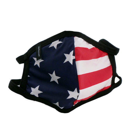 Stars and Stripes Face Mask with Filter Pocket American Flag Print