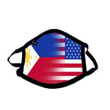Custom Dual Flag Dual Country Adult Mask