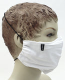 Adjustable Elastic Fabric Face Mask with Clasp (Won't Hurt Ears)