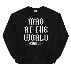 "Open image in slideshow, ""Mad At The World"" Conejo Lyric Crewneck Sweater"