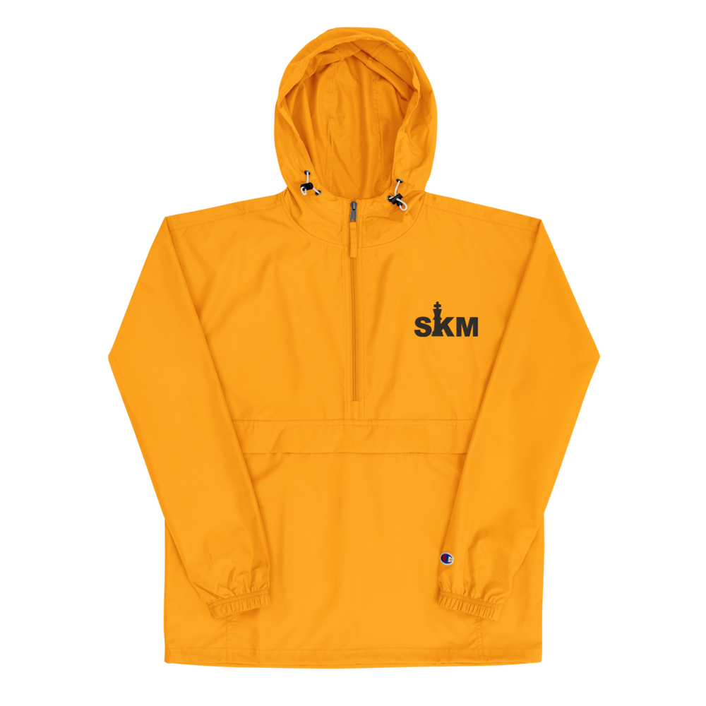SKM Embroidered Champion Packable Jacket