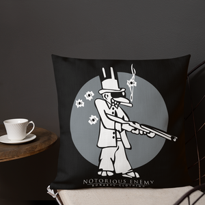 Open image in slideshow, Notorious Enemy Logo Premium Pillow