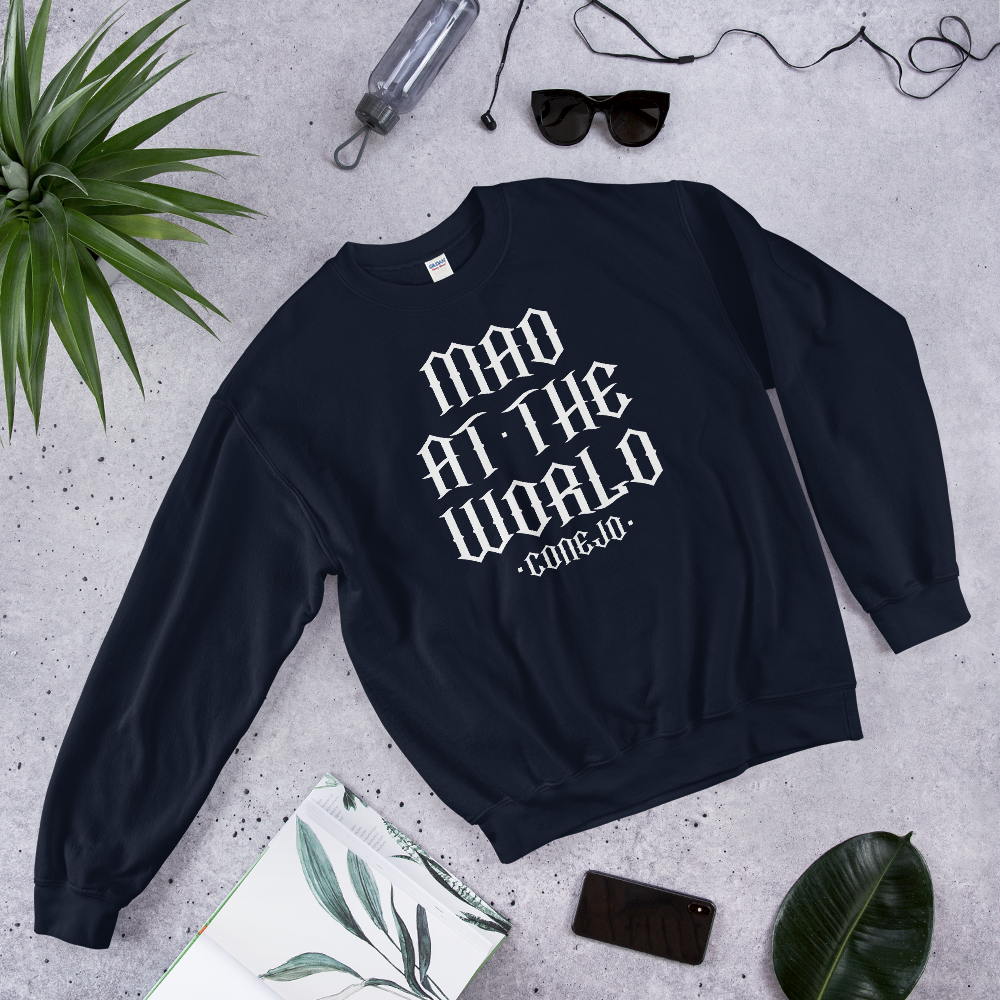 """Mad At The World"" Conejo Lyric Crewneck Sweater"