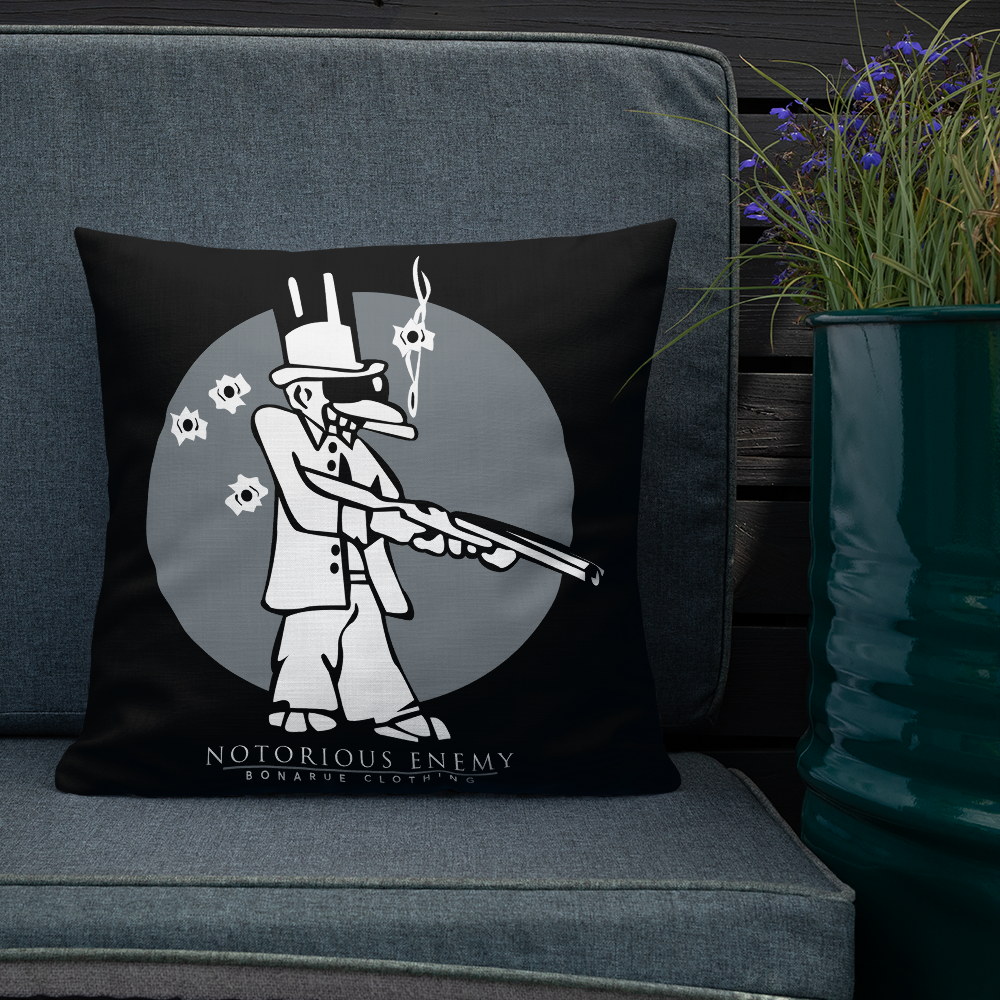 Notorious Enemy Logo Premium Pillow