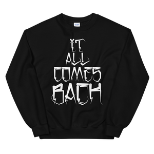 "Open image in slideshow, ""It All Comes Back"" Conejo Lyric Crewneck Sweater"