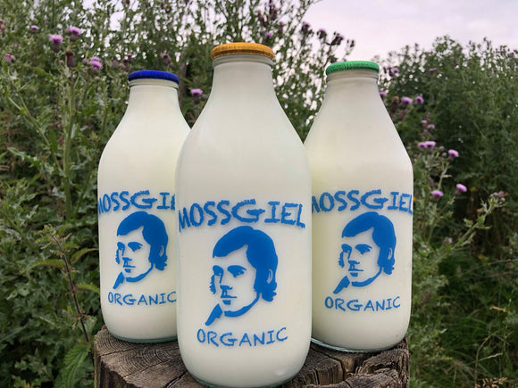 Organic Glass bottle Semi-skimmed Milk (1 pint)