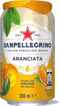 6 x San Pellegrino Aranciata fruit Beverage - 330ml