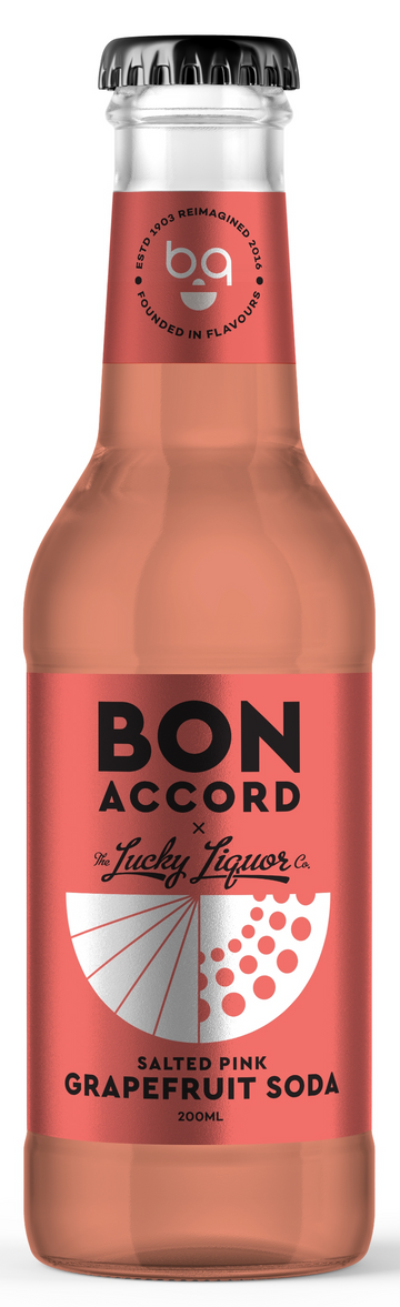 6 x Salted Pink Grapefruit Soda Mixer - Bon Accord 200ml