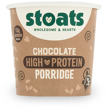 Stoats Porridge Pot - Chocolate High Protein