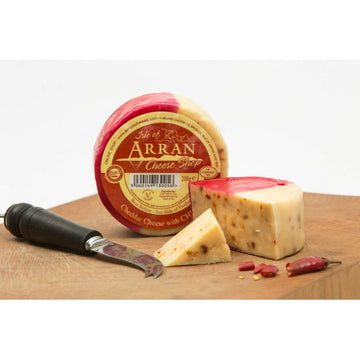 Chilli Infused Waxed Cheddar - Arran Cheese 200g