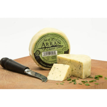 Chive Infused Waxed Cheddar - Arran Cheese 200g