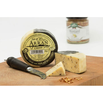 Mustard Infused Waxed Cheddar - Arran Cheese 200g