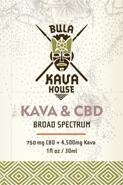 Tincture of 750 mg. CBD with 4,500 mg. Kava