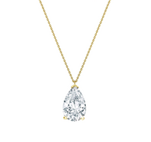Load image into Gallery viewer, Gold Necklaces with clear zircon