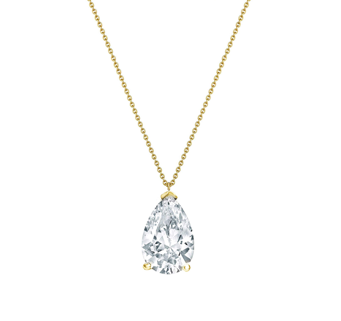 Gold Necklaces with clear zircon
