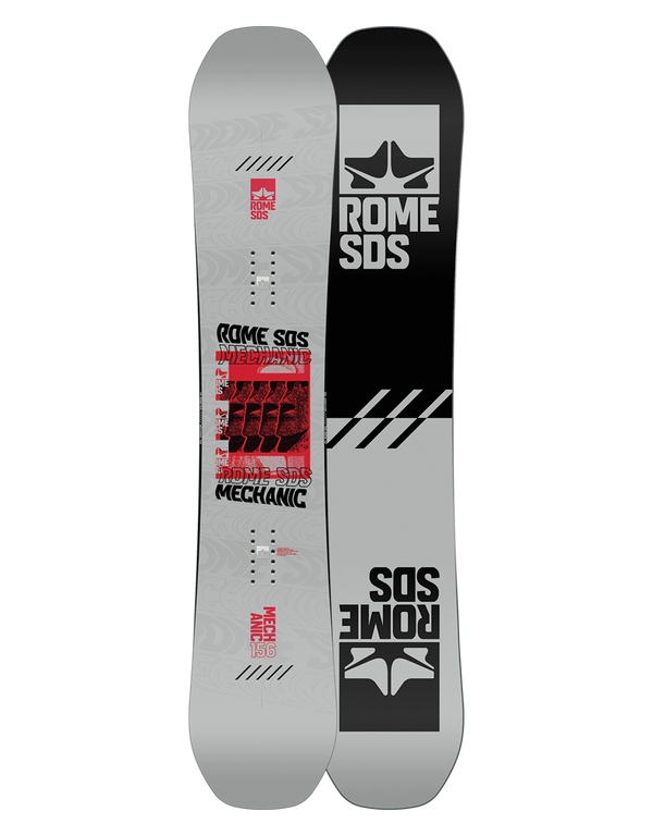 Rome mechanic snowboard 2020 - 2021 by rome snowboards flip flop base