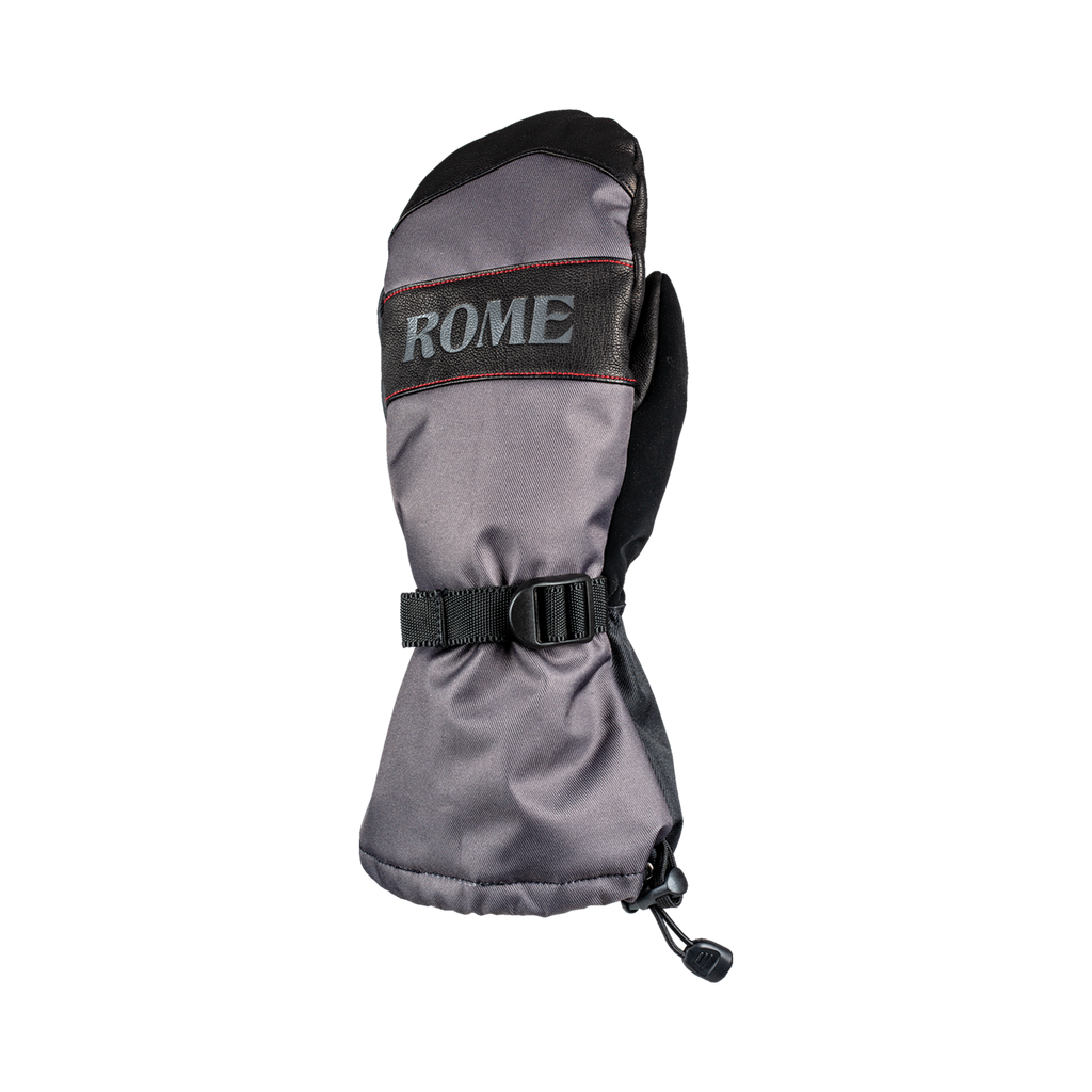 Snowboard mitts Rome Black Bronson Mitts 2020 2021 by rome snowboards