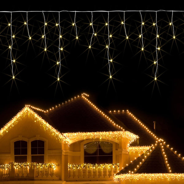 4M/6M/10M/20M  120/300/400/800LED Warm White Icicle Indoor Outdoor LED Fairy Lights