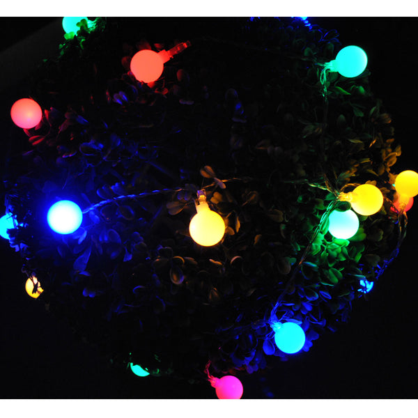 Battery Powered Multi Colours Berry Ball 20/40 LED Static on Fairy Lights