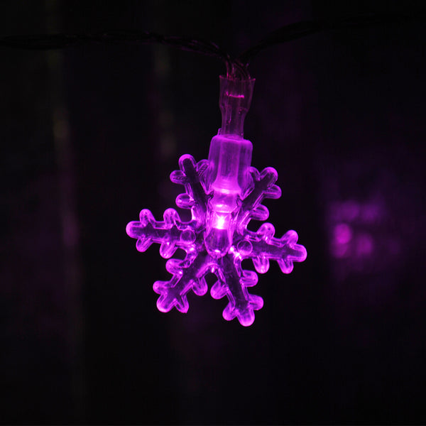 USB Powered 20 LED 2M Pink Snowflake Shape Indoor LED Fairy Lights