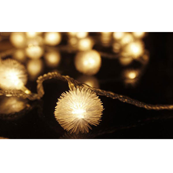 Battery Powered Warm White Snowball LED Fairy Lights