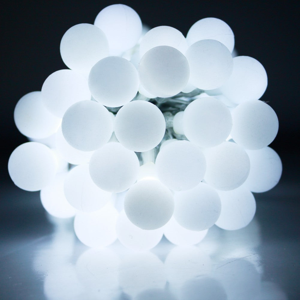 USB Powered Indoor 50LED 5M Cool White Berryball LED Fairy Lights