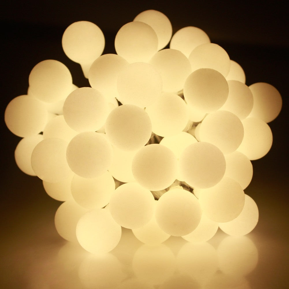 Battery Powered Warm White Berry Ball LED Fairy Lights