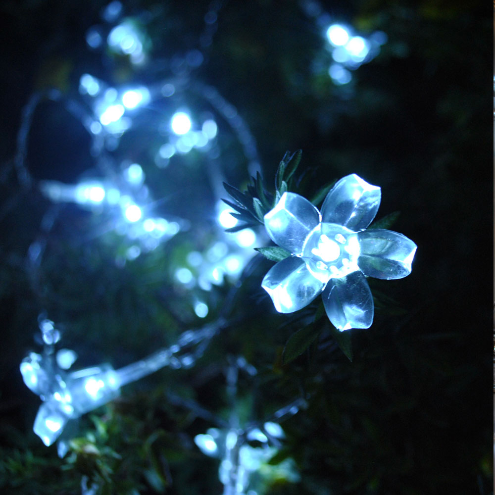 Waterproof Cherry Blossom Summer Flower 10M 100 LED Cool White Colour Fairy Lights