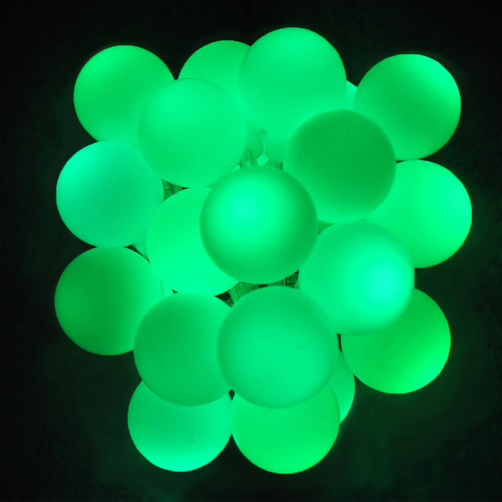 Battery Powered Green Berry Ball LED Fairy Lights Static/Flash