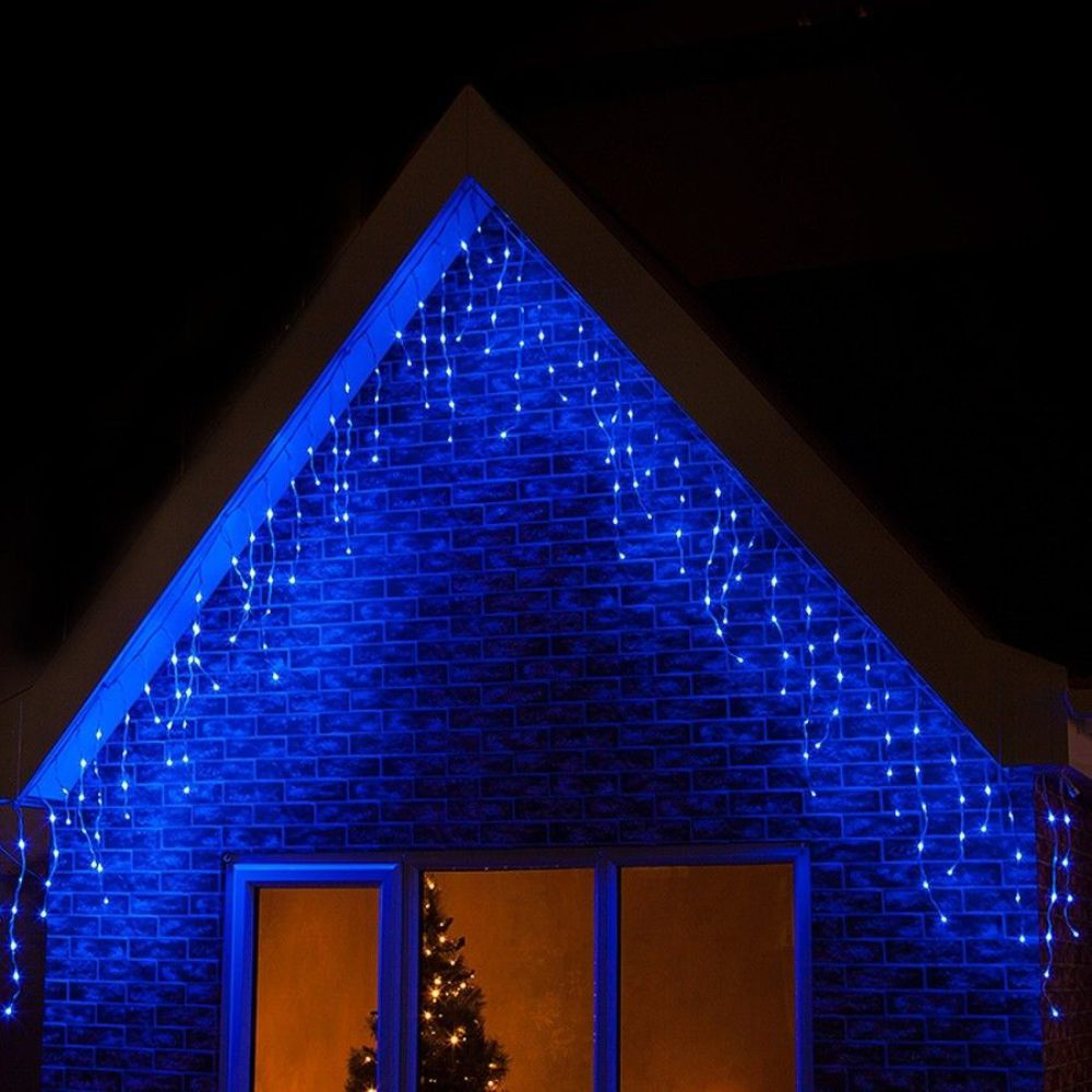 4M/6M/10M/20M  120/300/400/800LED Blue Icicle Indoor Outdoor LED Fairy Lights