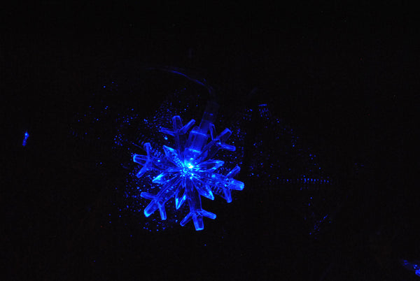 Blue Snowflake USB Powered LED String Fairy Lights 5M 50LED - ON/Off/Flash Functions