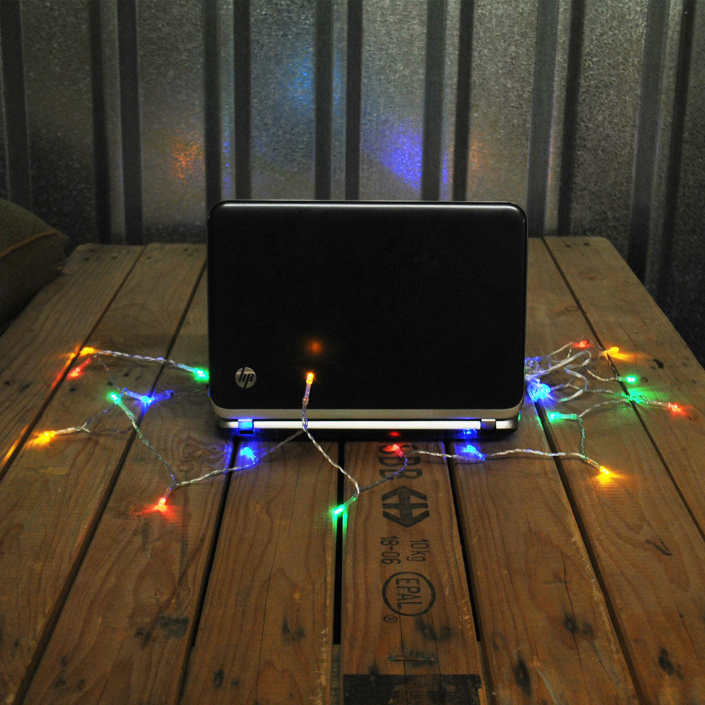 USB Powered 50LED 5metres Multi Colour(Red,Green,Blue) LED String Fairy Lights