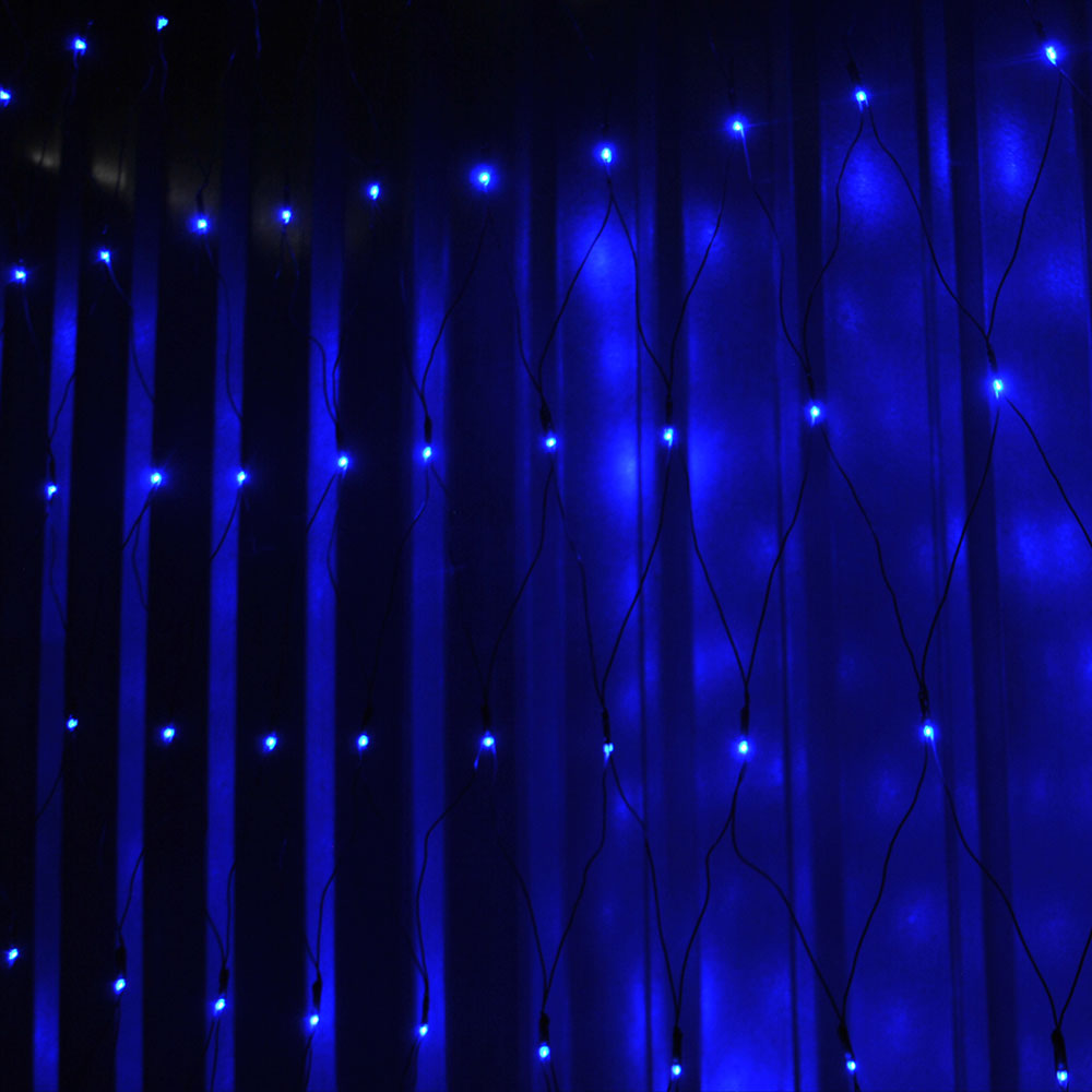 Indoor Outdoor 120/320LEDs Blue Net Fairy Lights