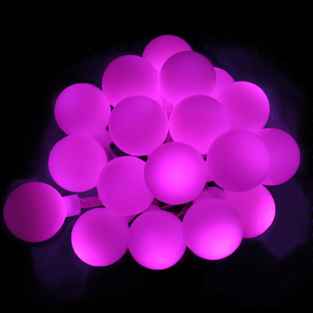 Battery Powered Pink Berry Ball 20/40LED  Static on  Fairy Lights