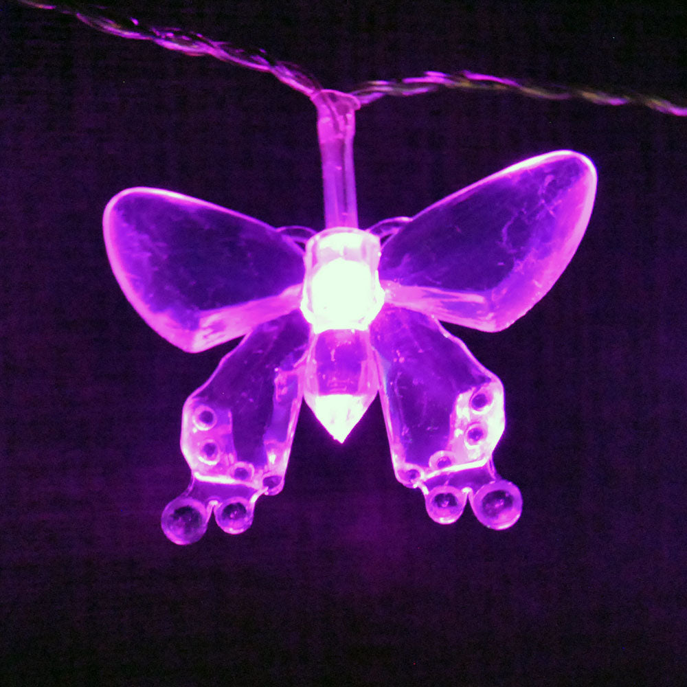 20LED 2M Butterfly Indoor USB Powered Pink LED Fairy Lights