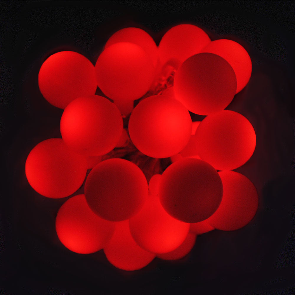 USB Powered 20 LED 2M Red Berry Ball Indoor LED Fairy Lights