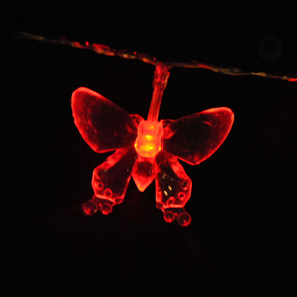 Battery Powered Red Butterfly 20/40LEDs Fairy Lights