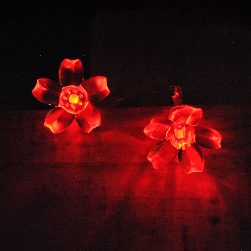 Battery Operated Red Cherry Blossom 20/40LEDs Fairy Lights