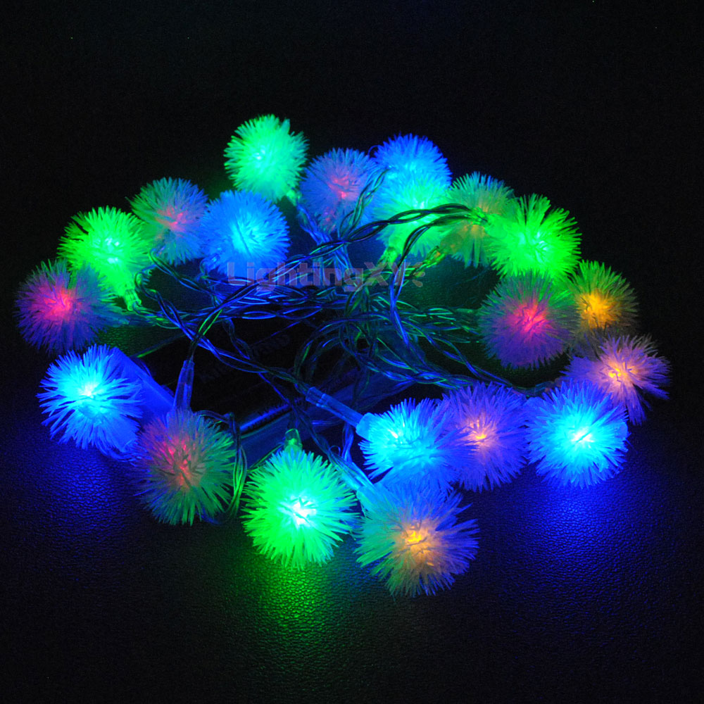 Battery Powered Multi Colour Snowball 20/40 LED Static on Fairy Lights