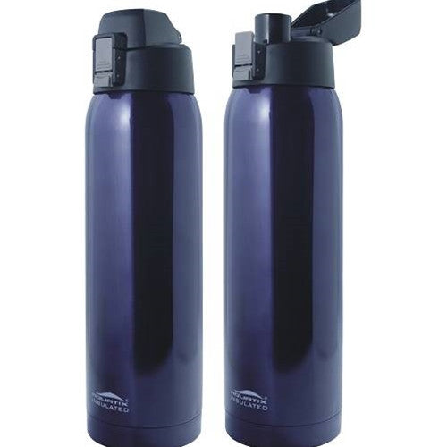 Aquatix Midnight 32 oz Flip Top Bottle Thermal Double Insulated Vacuum Sealed Sports Bottles