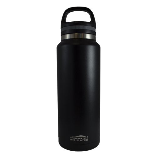 Aquatix Insulated Beer Growler Black Bottle Guzzler Double Wall Insulation 38 Ounce and 64 ounce available