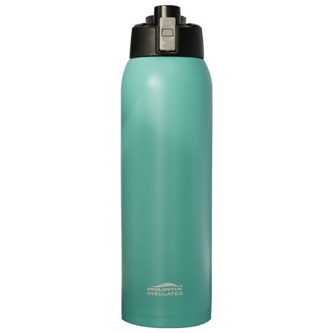 Turquoise 32oz Powder Coated Thermal Double Insulated Vacuum Sealed Sports Bottle Flip Top