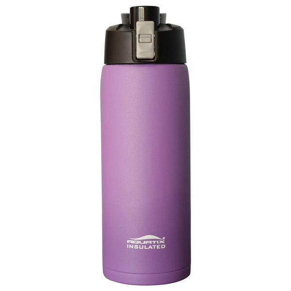 Purple  21oz Powder Coated Thermal Double Insulated Vacuum Sealed Sports Bottle Flip Top